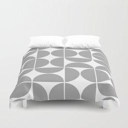 Mid Century Modern Geometric 04 Grey Duvet Cover