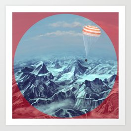 astronaut returns Art Print