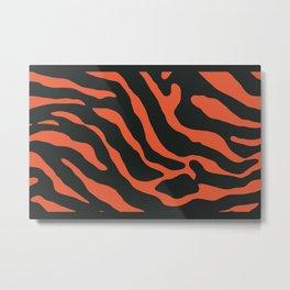 Tiger Skin Pattern Sorbus Metal Print
