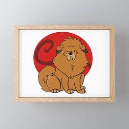 Tan Tibetan Mastiff Framed Mini Art Print