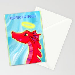 "Dragon perfect angel original artwork for ""Doryu the scared little dragon"" By author and illustrator Katy Christoff Stationery Cards"