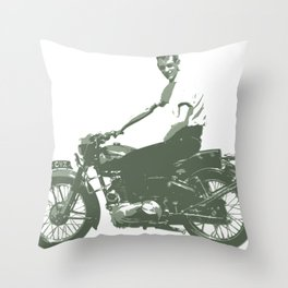 Dad on a Bike Throw Pillow
