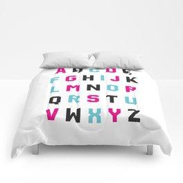 Typography Alphabet #1 Comforters