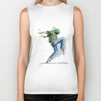 dancing Biker Tanks featuring dancing by digiartpicture