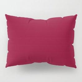 deep dark red or burgundy Pillow Sham