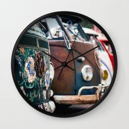 Cambi van flower Wall Clock