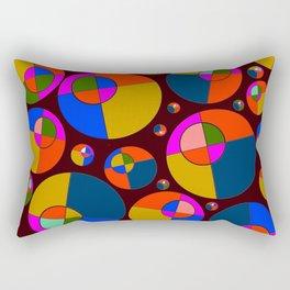 Bubble pink & blue 07 Rectangular Pillow