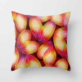 Fire Fairy Wings Throw Pillow
