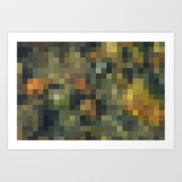 ROCK AND WATER MOSAIC Art Print