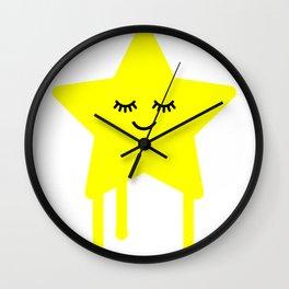 Sleepy star Wall Clock