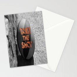Vintage: Take the Shot Basketball  Stationery Cards