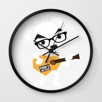 animal crossing Wall Clocks featuring Animal Crossing KK Slider by mimibun