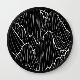 The dark mountain range Wall Clock