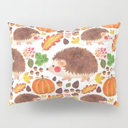 Autumn Hedgehog Pillow Sham
