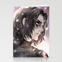 winter soldier Stationery Cards featuring Winter Soldier by Lüleiya
