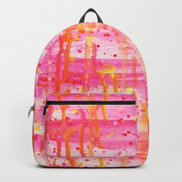 Confetti Abstract High Flow Acrylic Painting Backpack