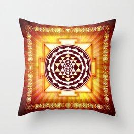 Sri Yantra II.III Throw Pillow
