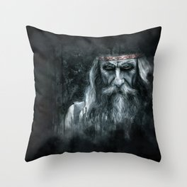 Slavic Magus Throw Pillow