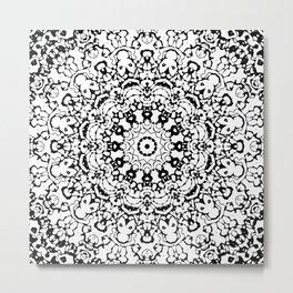 Black and White Mandala 4 Metal Print
