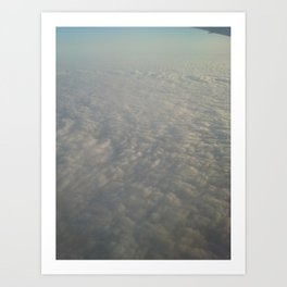 Clouds from the top Art Print