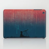 night iPad Cases featuring Meteor rain by Picomodi