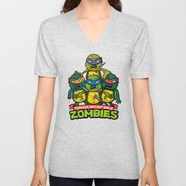 Teenage Mutant Ninja Zombies Unisex V-Neck