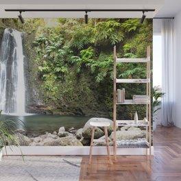 lime green waterfall Wall Mural