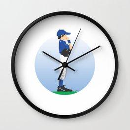 Baseball Blue Boy Wall Clock