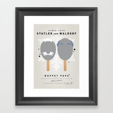My MUPPET ICE POP - Statler and Waldorf Framed Art Print