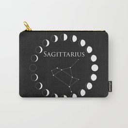 Sagittarius Astrology Zodiac Sign Moon Phase Constellation Carry-All Pouch