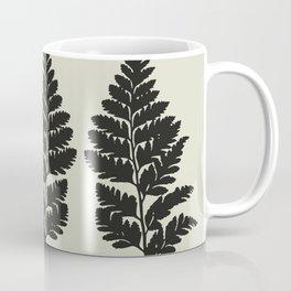 fern in gray Coffee Mug