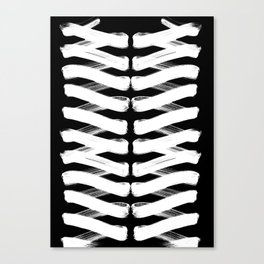 Zigzag white Canvas Print