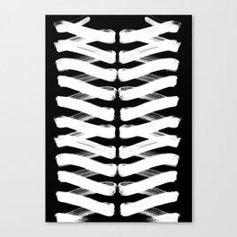 Zigzag white Canvas Print