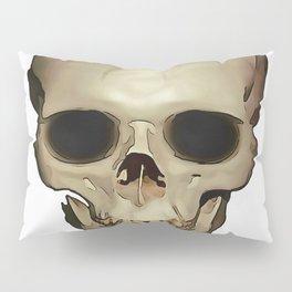 Antique Human Skull Pillow Sham