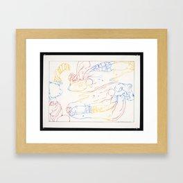 Rainbow skulls Framed Art Print
