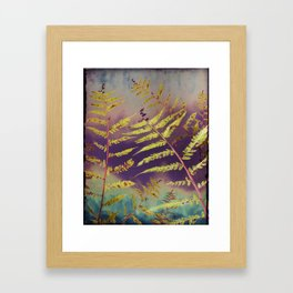 Faded Bracken Framed Art Print
