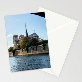 Notre Dame de Paris from under the Pont de l'Archeveche - Paris Stationery Cards