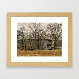 Interesting Barn Structure Framed Art Print