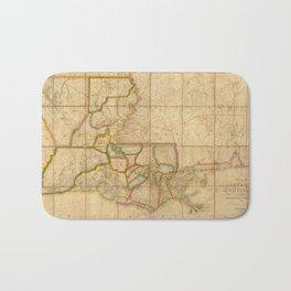 Vintage Map of Louisiana (1816)  Bath Mat