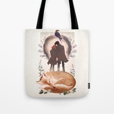 Fable of Mulder and Scully Tote Bag