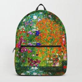 """Gustav Klimt """" Farmer's Garden """" Backpack"""