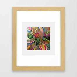 Petals in a Color Storm Framed Art Print