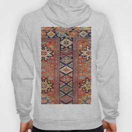 Southwestern Farmhouse V // 19th Century Colorful Red Yellow Blue Green Aztec Farm Stars Pattern Hoody