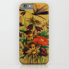 Stained Glass Dragonflies & Flowers iPhone 6s Slim Case
