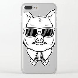 Mafia gangster gift robber Cosa Nostra Clear iPhone Case