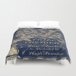 Pride and Prejudice, Peacock; Vintage Book Cover Duvet Cover