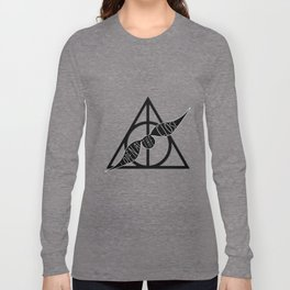 I Open At The Close Deathly Hallows Snitch Long Sleeve T-shirt