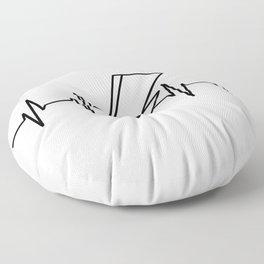 Bowie Heartbeat Floor Pillow