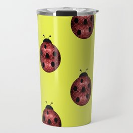Beautiful Sparkling red sparkles Ladybird Ladybug Travel Mug