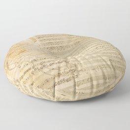 Classical music notations Floor Pillow